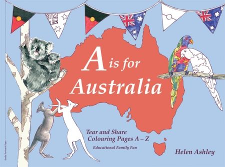 Christmas at #htfstyle A is for Australia colouring book. Shop now at www.hardtofind.com.au