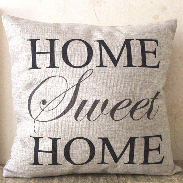 CUSHION COVER , HOME SWEET HOME in Home & Garden, Home Décor, Cushions, Decorative Pillows | eBay!