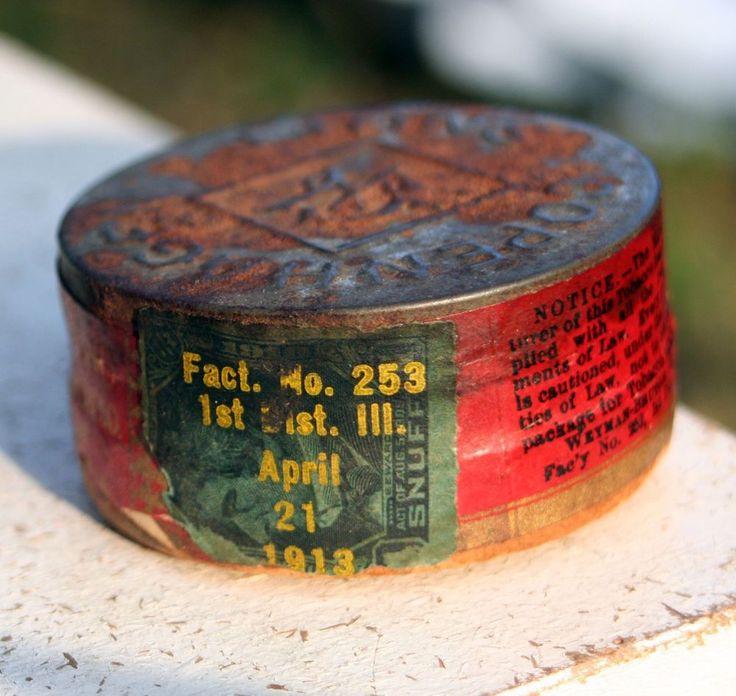 Rare Unopened 1913 Copenhagen Snuff Can Weyman US Tobacco Company Tin Box