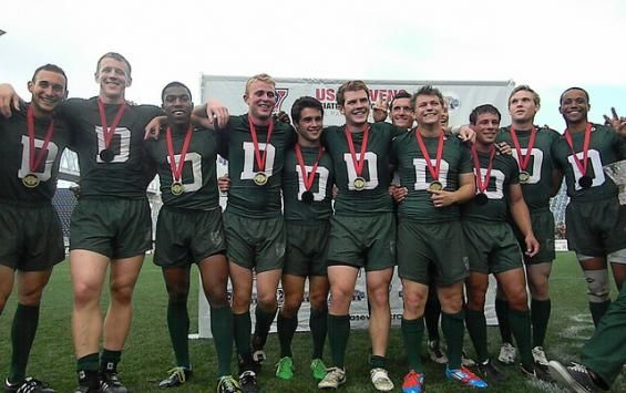 Homens Dartmouth comemorar seu segundo consecutivo Campeonato Nacional de Rugby…