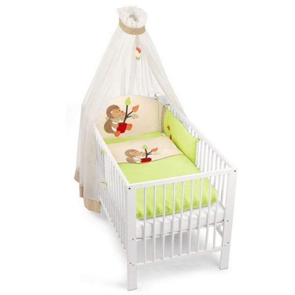 """""""So fühlen sich die Kleinen sofort wohl. Das Bett-Set besteht aus Bettwäsche (100x135cm + 40x60 cm), Himmel (170x280 cm) und dem passenden Nestchen."""""""