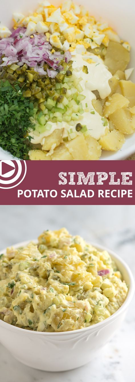 How to make the BEST potato salad! From which potatoes to use, how to peel them easily and quickly and what to add, we've got you covered! | From @inspiredtaste inspiredtaste.net