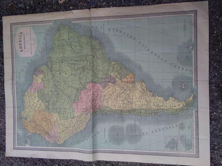 Cartina geografica America Meridionale 1911