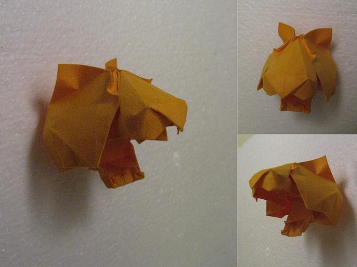Origami Tiger Head By GEN H 1024x768