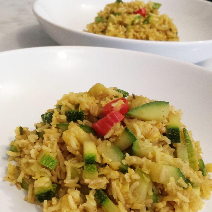 Riso basmati (e non solo) curry e zucchine (photo credit @elis1978)