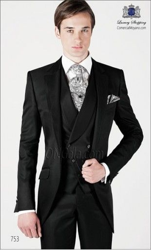Black wedding suit 753