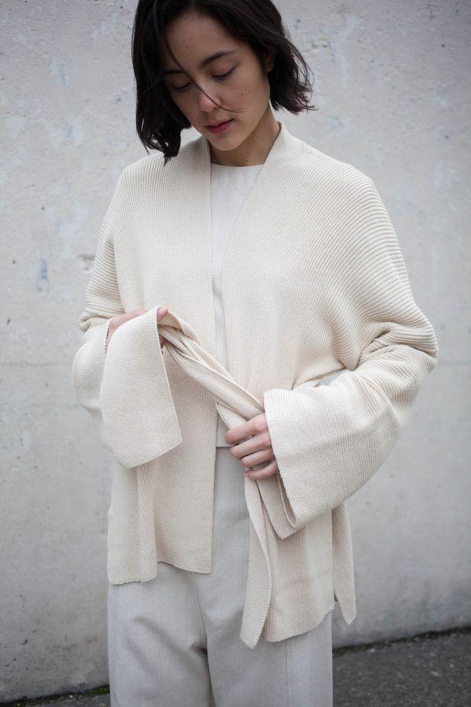 Lauren Manoogian Kimono Cardigan in Crudo