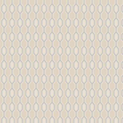 Kelly Hoppen Paste The Wall Hicks Silver & Taupe Wallpaper: Image 1