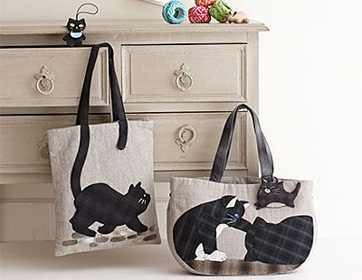 cat bags. so cute!