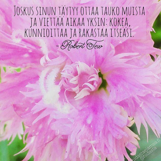 #muistutus #aikaaitselle #hetkiitselle #kunnioita #arvosta #rakasta #yksin #taukomuista #tauko