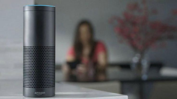 Amazon Echo is designed around your voice. It's hands-free and always on. With seven microphones and beam-forming technology, Echo can hear you from across the room even while music is playing. Echo is also an expertly tuned speaker that can fill any room with immersive sound. Echo connects to All you have to do is ask.