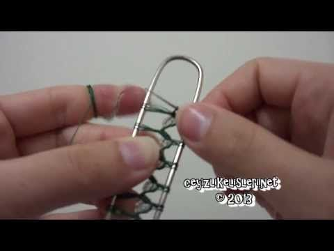 ▶ Kum Boncukla Firkete Oyasi Nasil Yapilir? : New Beaded Scarf Pattern - YouTube