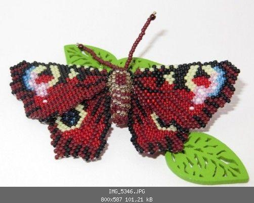 Tagpfauenauge (Brickstitch und Peyote) - Insekten, Krabbeltier, Reptilien, Amphibien - Perlentiere-Forum