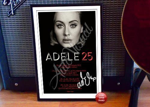 Adele 2016 Concert Tour Flyer Autographed Signed Photo Print