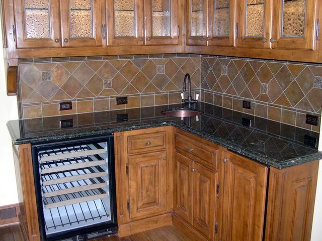 Ubatuba Granite Countertops Tile backsplash  Kitchen Make