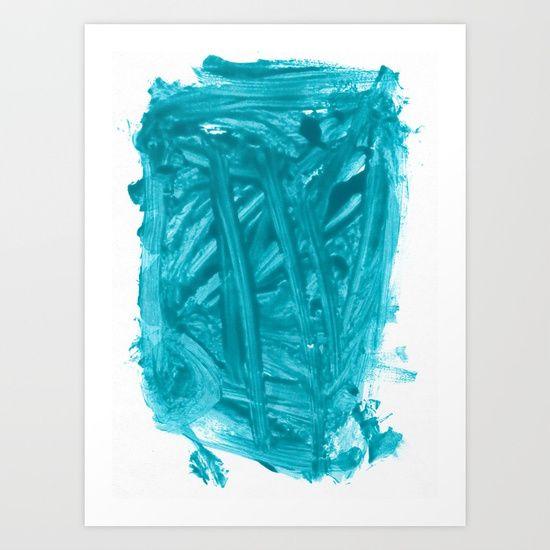 Turquoise Nail Polish Art Print by Kritzelkratzelkunst   Society6