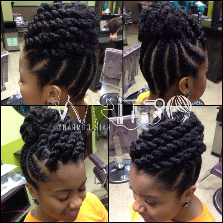 Enjoyable 1000 Ideas About Marley Twists Updo On Pinterest Marley Twists Short Hairstyles For Black Women Fulllsitofus