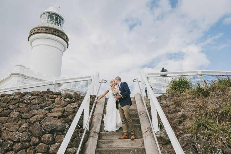 Married by the lighthouse. Byron Bay wedding at Avalon House.  Photography by Zoe Morley www.zoemorleyphotography   Lisa and Jesse