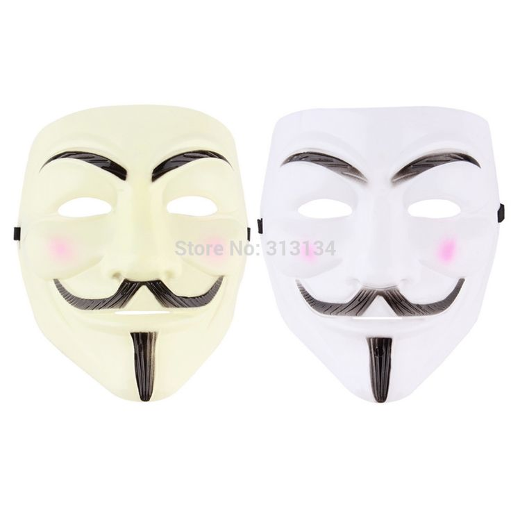 Cosplay Mask V For Vendetta Mask Anonymous Movie Guy Fawkes Halloween Masquerade Party Face March Protest Costume Accessory