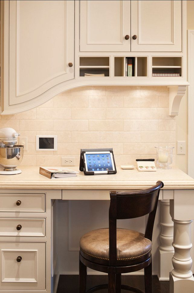 Kitchen Desk Area. This kitchen desk is perfect! #Kitchen #Desk #Area
