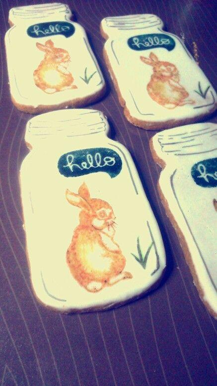 Galletas conejito, rabbits on cookies