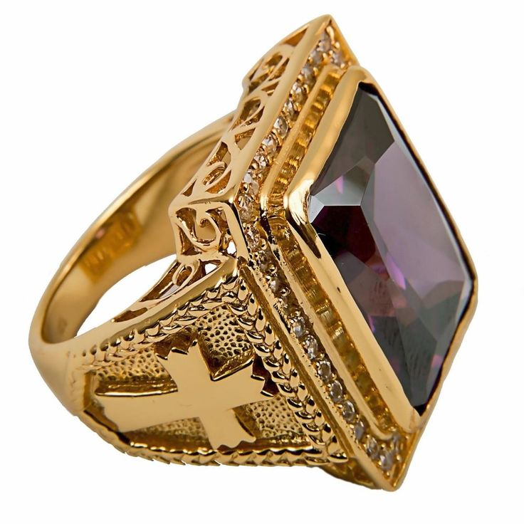 New CLERGY BISHOP RING (Subs710P), Gold Plated/Sterling Silver, Christian