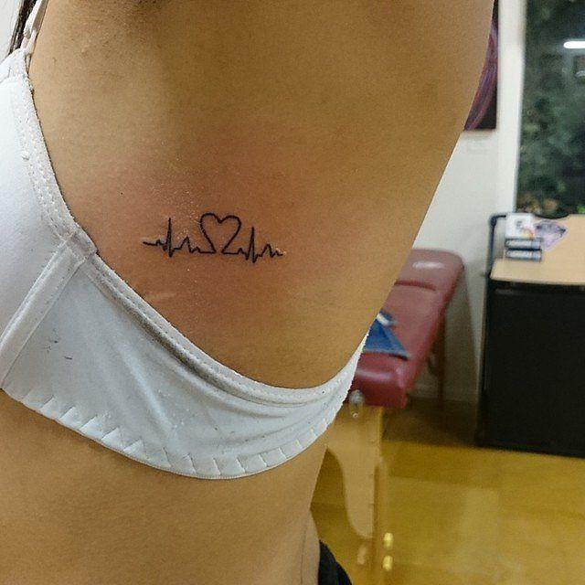 Tattoo Ideas pequenas e Inspiração Beleza Batida de coração. / Small Tattoo Ideas and Inspiration Beauty Heart Beat.