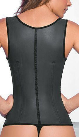 Ann Chery Full Latex Waist Trainer Vest - Back  http://waisttrainer.us/waist-trainer-vest/  #AnnChery #Latex #Vest