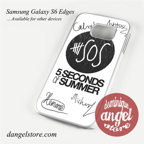 5seconds of summer signature Phone Case for Samsung Galaxy S3/S4/S5/S6/S6 Edge