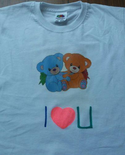 camiseta niña i love you