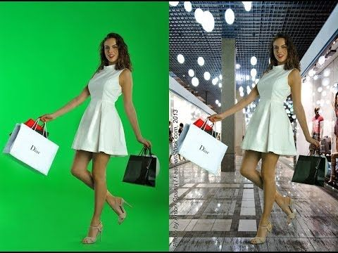 Fashion Photography workshop - Tips how-to make GREAT model photos on Green Screen Studio Chroma key - YouTube