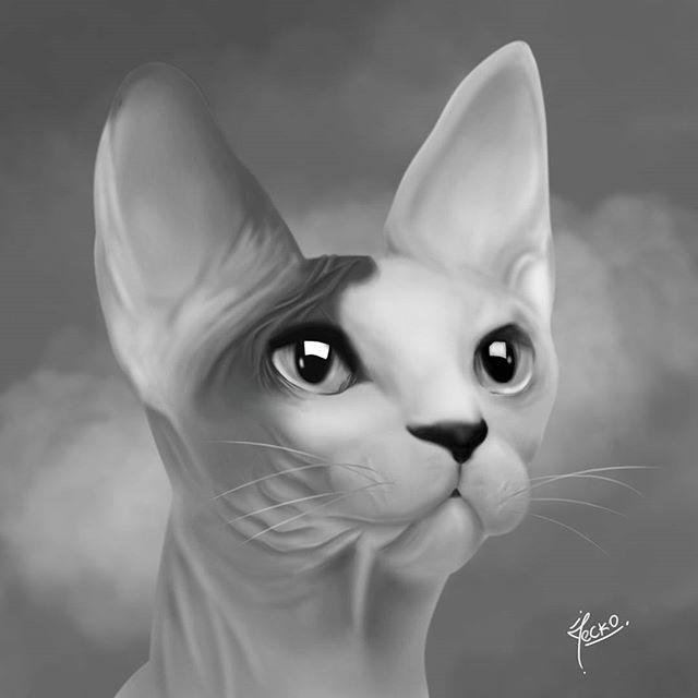 Practicando escalas cortas #digitalart #digitalpainting #drawcat #egipciancat #photoshop #pinturadigital #ilustraciónbarranquilla