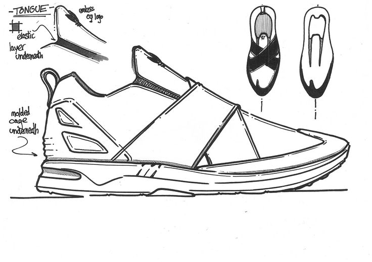 adidas zx flux drawing