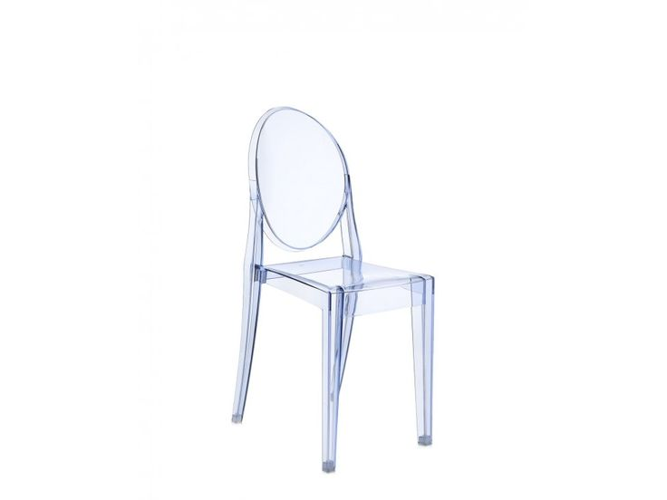 Krzesło Victoria Ghost transparentne niebieskie — Krzesła Kartell — sfmeble.pl