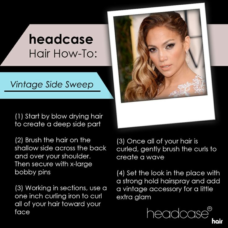 The Vintage Side Sweep! A versatile look you could wear everyday or on your big day!