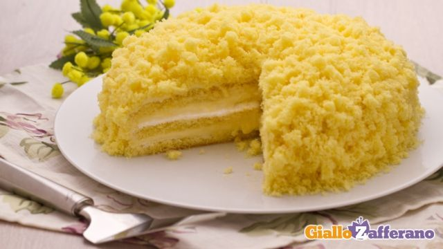Torta Mimosa, Women's Day Cake on March 8th