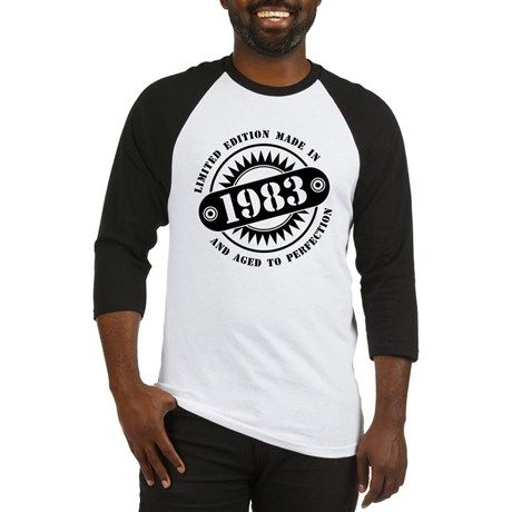 LIMITED EDITION MADE IN 1983 Baseball Jersey #madein #limitededition #birthday #bday #year #age