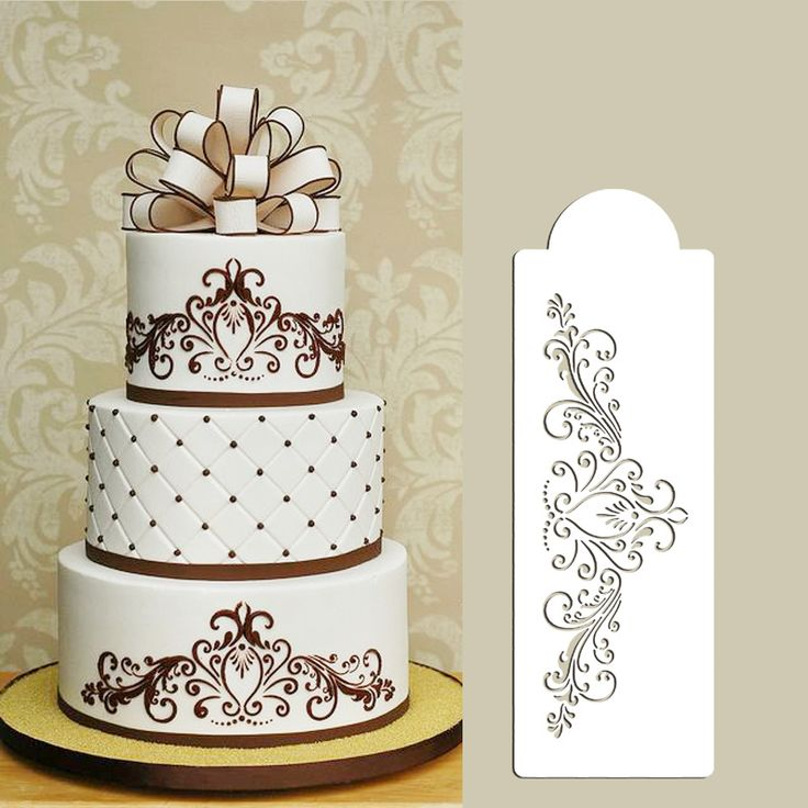 Small Princess Lace Cake Stencil Side Flower Stencils For Decoration Free