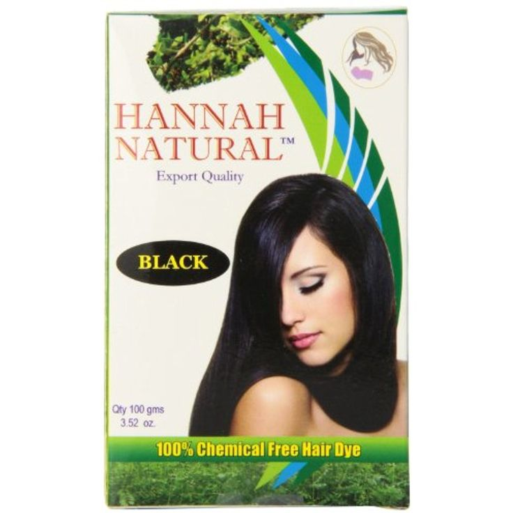 Hannah Natural 100% Chemical Free Hair Dye, Black, 100 Gram -- Details can be found by clicking on the image. (This is an affiliate link and I receive a commission for the sales)