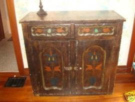 Antique Pa Dutch Painted Kitchen Jelly Cupboard
