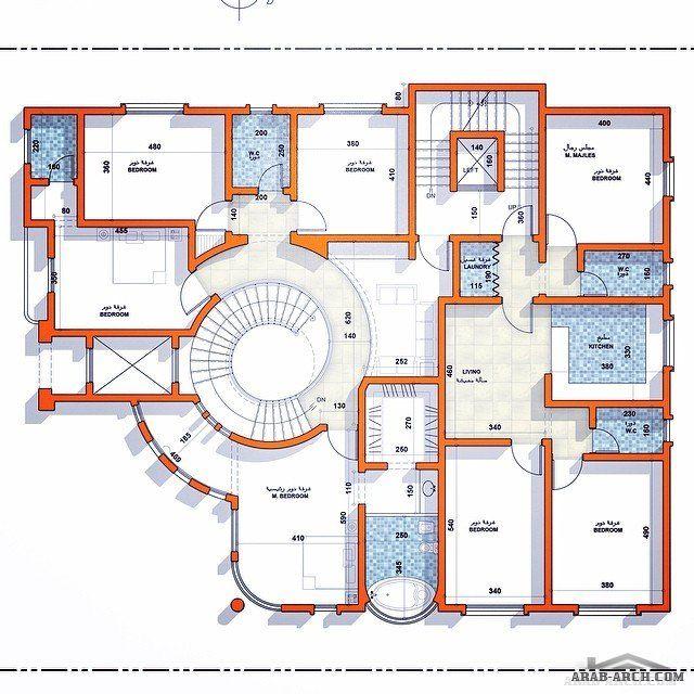 خرائط دور ونصف ڤيلا و شقة سكنية في نص الدور الأول مساحة الأرض ٥٠٠ مساحة الدور الأول ٣٢٠ من تصميم معما Square House Plans My House Plans House Plans Mansion