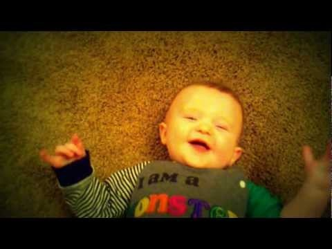 The Cutest LOL baby laughing video ever. Yes, ever. Baby laughs when stepped on. And yes, I am bias.