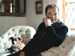 The much loved Julian Clary wearing our Black Bees Waistcoat http://www.elainedeed.com/julian-clary.html    Waistcoat available here: http://favourbrook.com/shop/product/Favourbrook-Silk-jacquard-Waistcoat-Black-Gold-Bees-FBM1g/