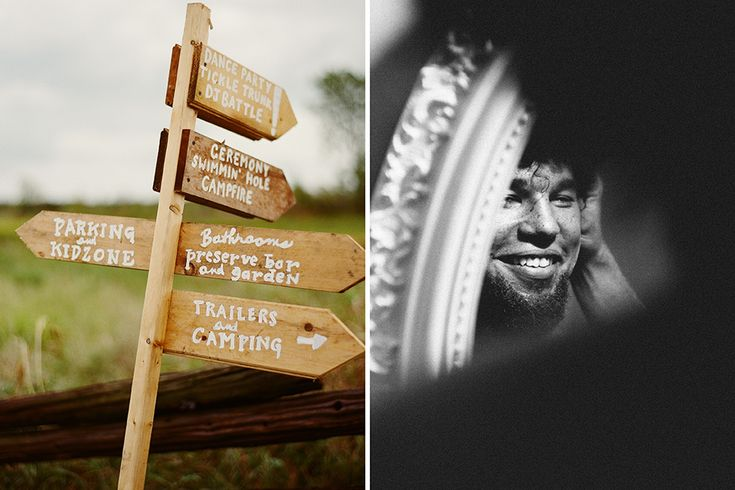 Farm wedding sign post James Looker Photography www.JamesLooker.com
