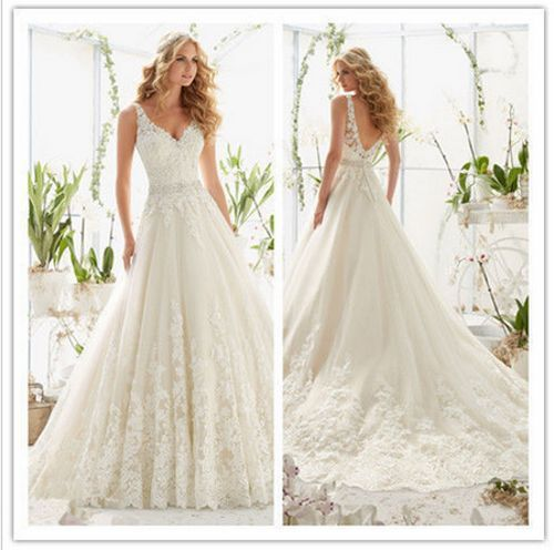 2016 New White/ivory Wedding dress Bridal Gown  size 6-8-10-12-14-16-18