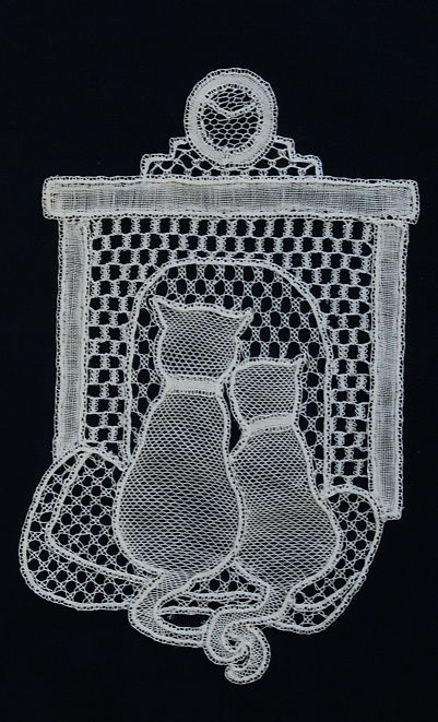 dianes cats honiton lace