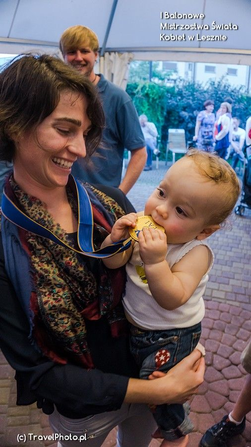 Mummy! It's real gold! Nicola SCAIFE with son...