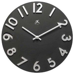 $27.07 | Amazon  Infinity Instruments Harmonious Time Wall Clock: Instruments Harmony, Living Rooms, Amazon Clocks, Wall Clocks, Modern Wall, Time Wall, Infinity Instruments, Harmony Time, Black Time
