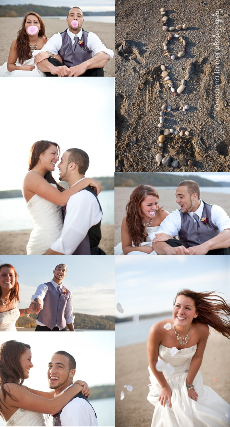 Beach Wedding fun  this is so sweet! idk who the couple is, but congrats :)