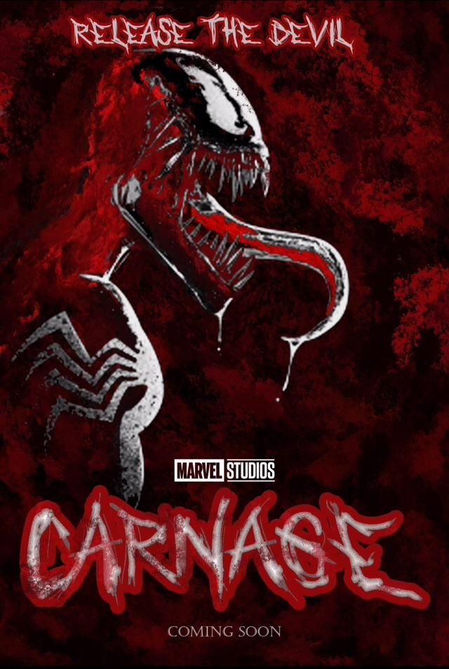 CARNAGE movie poster concept. 1.5 hrs of photoshop gone to good use!